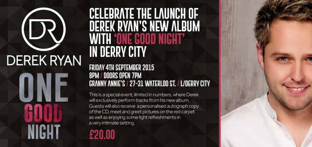 THIS WILL BE 'ONE GOOD NIGHT' DERRY CITY!