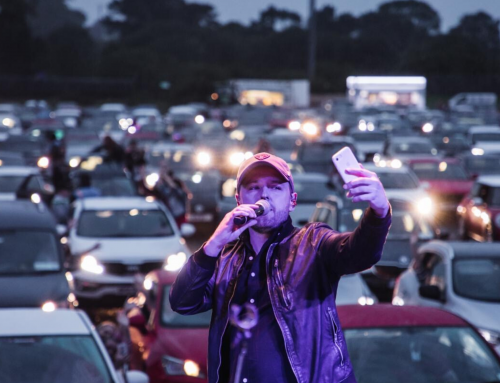 Derek makes history at Ireland's first Drive-In concert