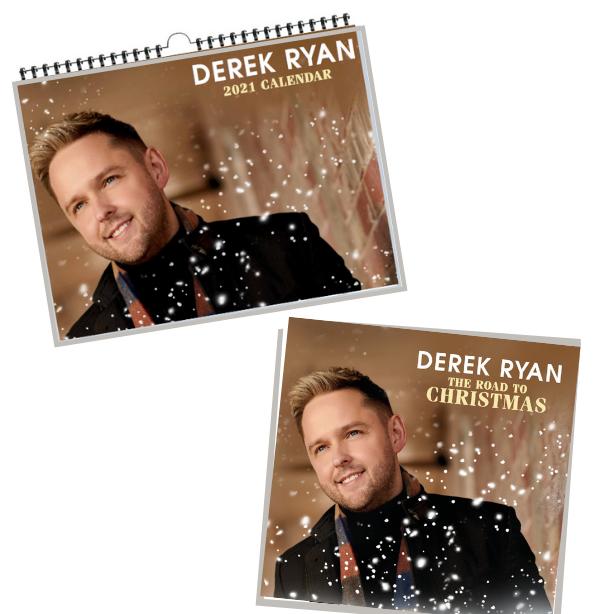 Derek Ryan The Road To Christmas CD and Calendar 2021 Bundle