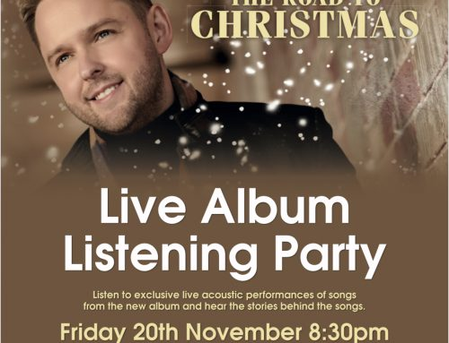 Album Listening Party – Friday 20th November 8:30pm