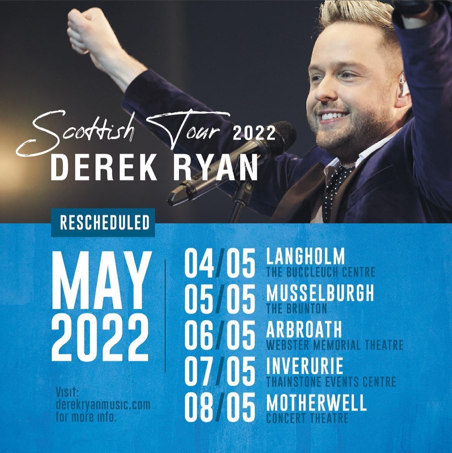 Derek Ryan Scottish Tour 2022