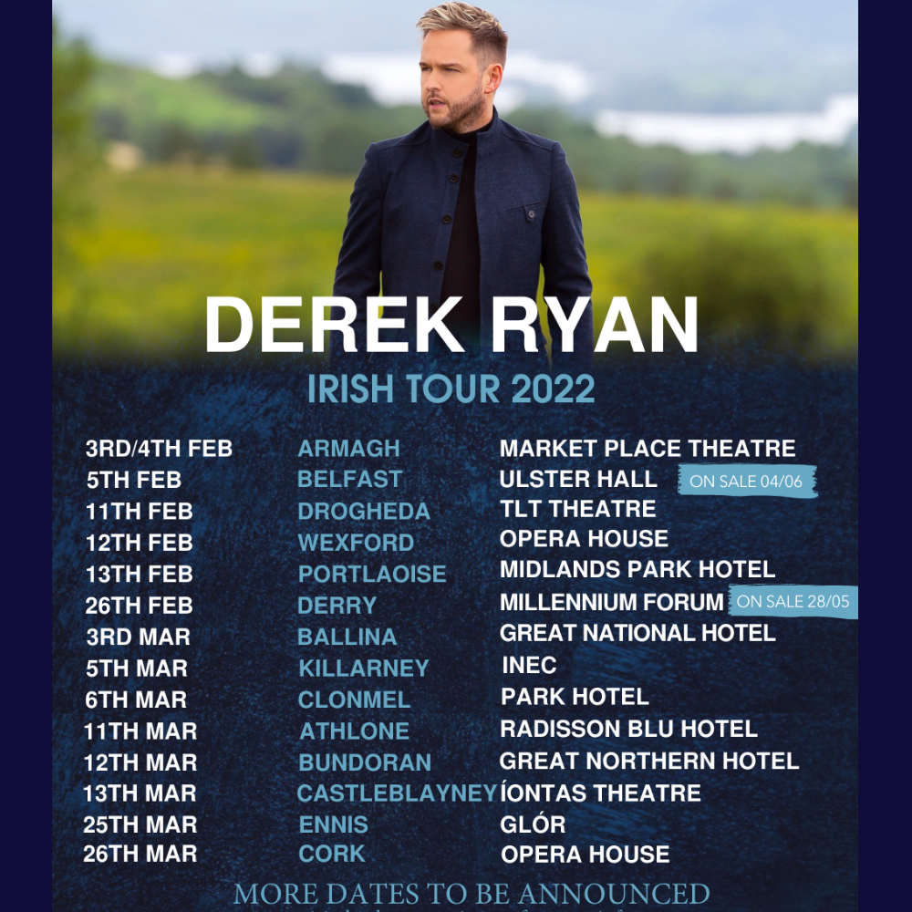 Derek Ryan Irish Concert Tour 2022